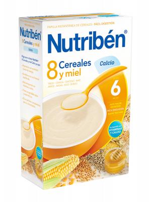 Nutriben 8 cereales y miel calcio 600 gr