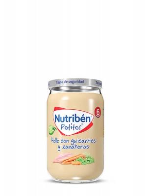 Nutriben potito de pollo guisado con zanahoria 235g