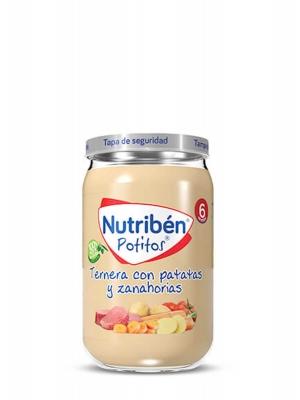 Nutriben ternera con patatas y zanahoria 235gr