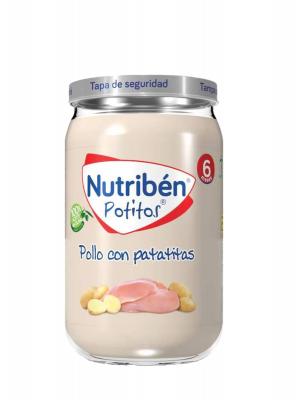 Nutriben pollo con patatitas 235 gr