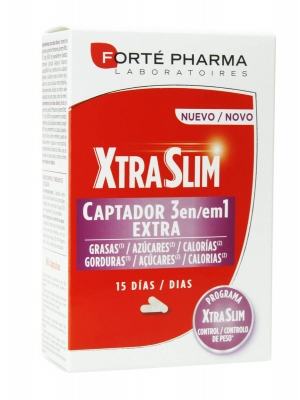 Forte pharma xtraslim captador 3 en 1 60 cápsulas