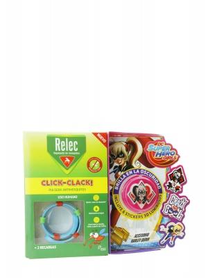 Relec pulsera antimosquitos + 6 stickers harley quinn