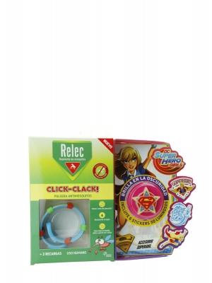 Relec pulsera antimosquitos + 6 stickers supergirl