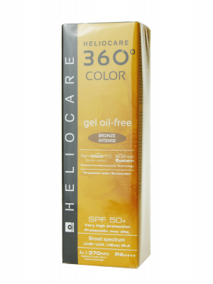 Heliocare 360º gel oil free color bronze intense spf 50+ 50ml