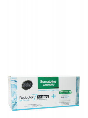 Somatoline pack reductor gel fresco 7 noches + scrub sea salt