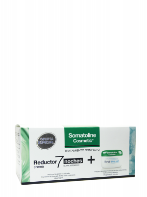 Somatoline pack reductor crema 7 noches + scrub sea salt