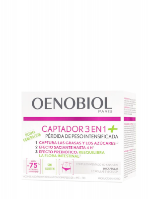 Oenobiol captador 3 en 1 plus 60 cápsulas