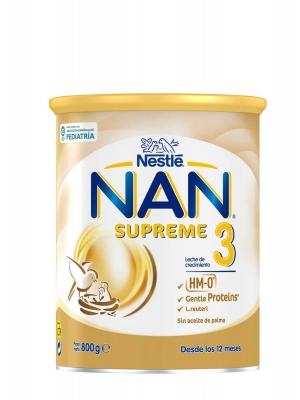 Nestlé nan 3 supreme leche de crecimiento 800 gr