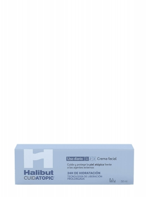 Halibut cuidatopic crema facial 50 ml