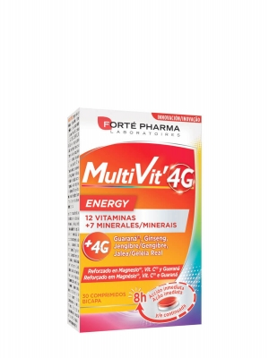 Forte pharma multivit 4g energía 30 comprimidos