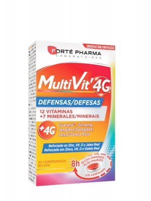 Forte pharma multivit 4g defensas 30 comprimidos