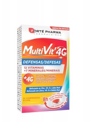 Forte pharma multivit 4g defensas 30 comprimidos