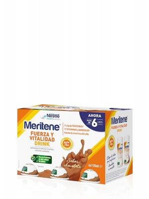 Meritene fuerza y vitalidad drink chocolate 6x125ml