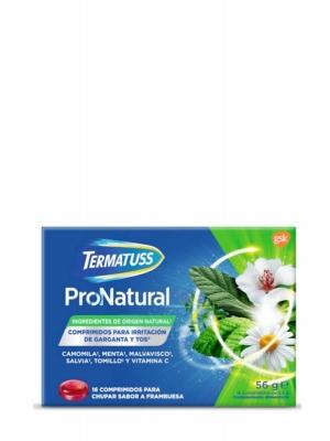 Termatuss pronatural sabor frambuesa 16 comprimidos para chupar