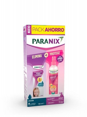 Paranix pack loción antipiojos 100 + árbol de té niña 250 ml