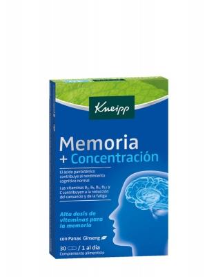 Kneipp memoria + concentración 30 cápsulas