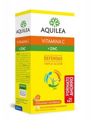 Aquilea vitamina c + zinc sabor naranja 28 comprimidos efervescentes