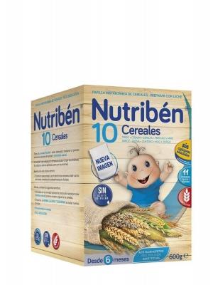 Nutribén 10 cereales papilla instantánea 600 gr