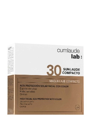 Sunlaude maquillaje compacto de alta protección spf 30 c 10 g