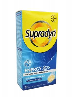 Supradyn energy 50 plus sabor naranja 30 comprimidos efervescentes