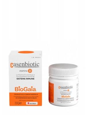 Casenbiotic vitamina d sabor naranja 30 comprimidos masticables