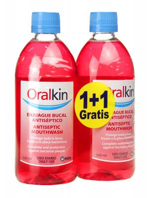 Oralkin enjuague bucal 500 ml 1+1
