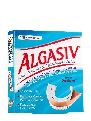 Almohadillas adhesivas inferiores para protesis algasiv 18 unidades