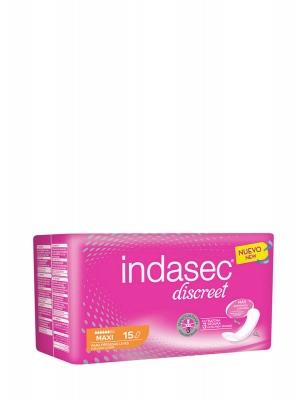 Indasec discreet maxi 15 unidades