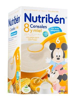Nutriben 8 cereales y miel con leche adaptada 600gr