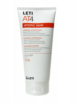 Leti at-4 crema corporal emoliente 200 ml.