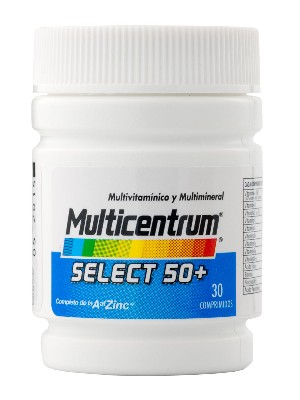 Multicentrum select 50+30 comprimidos