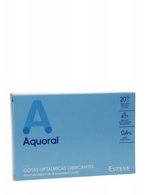 Aquoral gotas oftálmicas sequedad ocular 20 monodosis 0.5 ml
