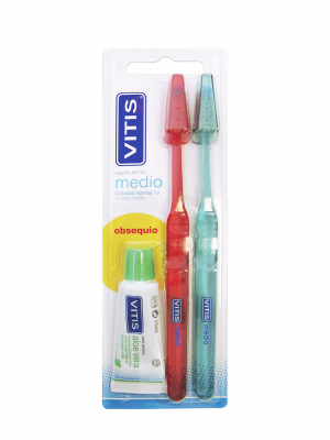 Vitis cepillo dental adulto medio duplo