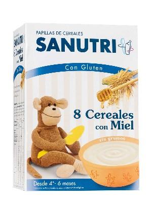 Sandoz papilla 8 cereales con miel 600 gr