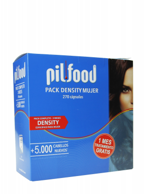 Pilfood pack density 3 meses mujer, 270 cápsulas.