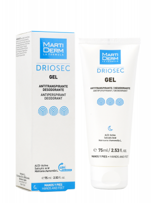 Martiderm driosec gel antitranspirante manos y pies 75 ml