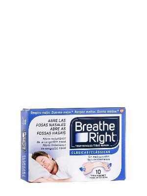 Tiras nasales breathe right tamaño pequeño-mediano 10 unidades