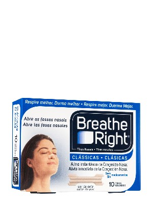 Breathe right tira nasal tamaño grande 10 unidades