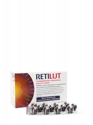 Retilut® 60 capsulas · cuidado extra para la visión