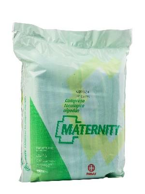 Compresas maternity algodón 20 unidades, indas