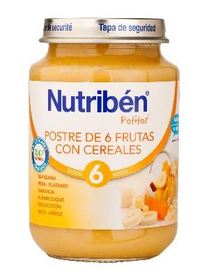 Nutriben junior postre de 6 frutas con cereales 200 gr