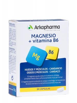 Arkopharma magnesio y vitamina b6 30 cápsulas