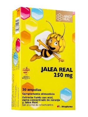 Jalea real para niños arko 250mg, 20 ampollas