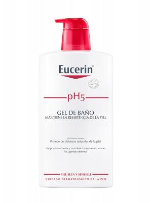 Eucerin gel de baño piel sensible ph-5 1 litro.