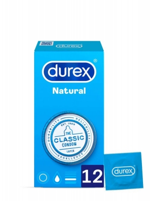 Durex natural the classic condom 12 preservativos