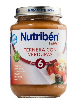 Nutriben ternera con verdura 200 g junior