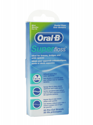 Oral b superfloss seda dental 50 unidades