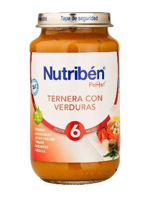 Nutriben ternera con verdura 250 gr