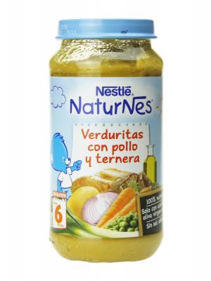 Nestlé naturnes puré de verduritas con pollo y ternera 250 gr