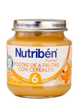 Nutriben postre de 6 frutas con cereales 130 g p